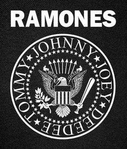 Ramones - Eagle Logo Backpatch 12x16""
