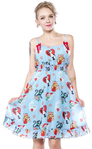 Sourpuss - Cat Lady Doll Dress
