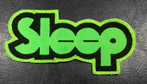 """Sleep Green Logo 4.5"""" Embroidered Patch"""