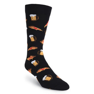 K. Bell - Pizza and Beer Crew Socks