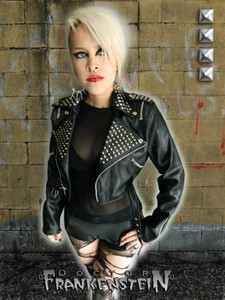 Women's Vegan Biker Bolero Jacket