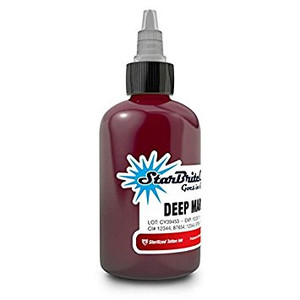 Starbrite Tattoo Ink Bottle .5oz - Deep Maroon