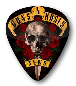 Guns N Roses - News Standard Guitar Pick