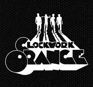 "Clockwork Orange Silhouettes 4x4"" Printed Patch"