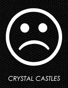 "Crystal Castles Frowny Face 3x4"" Printed Patch"
