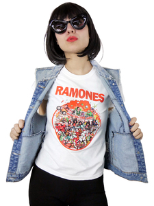 Ramones Rock N Roll High School Blouse T-Shirt