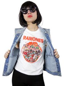 Ramones Rock N Roll High School Girls T-Shirt