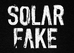 "Solar Fake Logo 5.25x4"" Printed Patch"