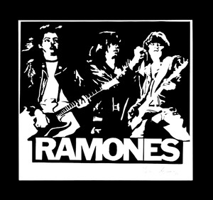 "Ramones Band 4x4"" Printed Sticker"