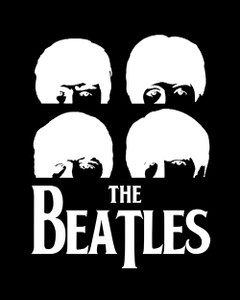 "The Beatles Silhouette 4x5"" Printed Sticker"