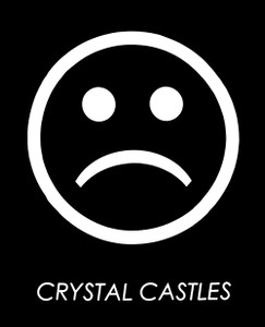"Crystal Castles Frowny Face 3x4"" Printed Sticker"