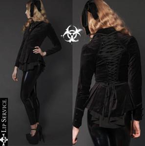 Black Velvet Corset Jacket