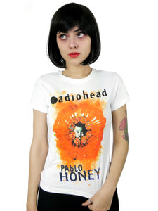 Radiohead Pablo Honey White Girls T-Shirt