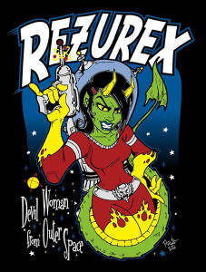 "Rezurex - Devil Woman from Outer Space 3x4"" Color Patch"