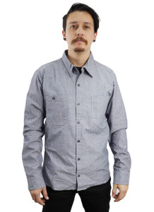 Grey Long Sleeve Button-Up Shirt