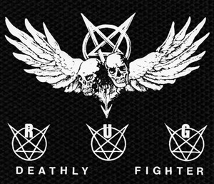 "Randy Uchida Group Deathly Fighter 4.5x4"" Printed Patch"