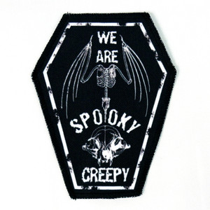 "We Are Spooky Creepy 6.75x3.5"" Coffin Patch"
