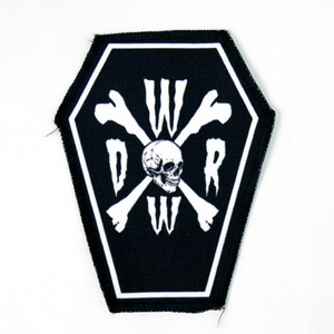 "Go Rocker - World Wide Death Rock 6.75x3.5"" Coffin Patch"