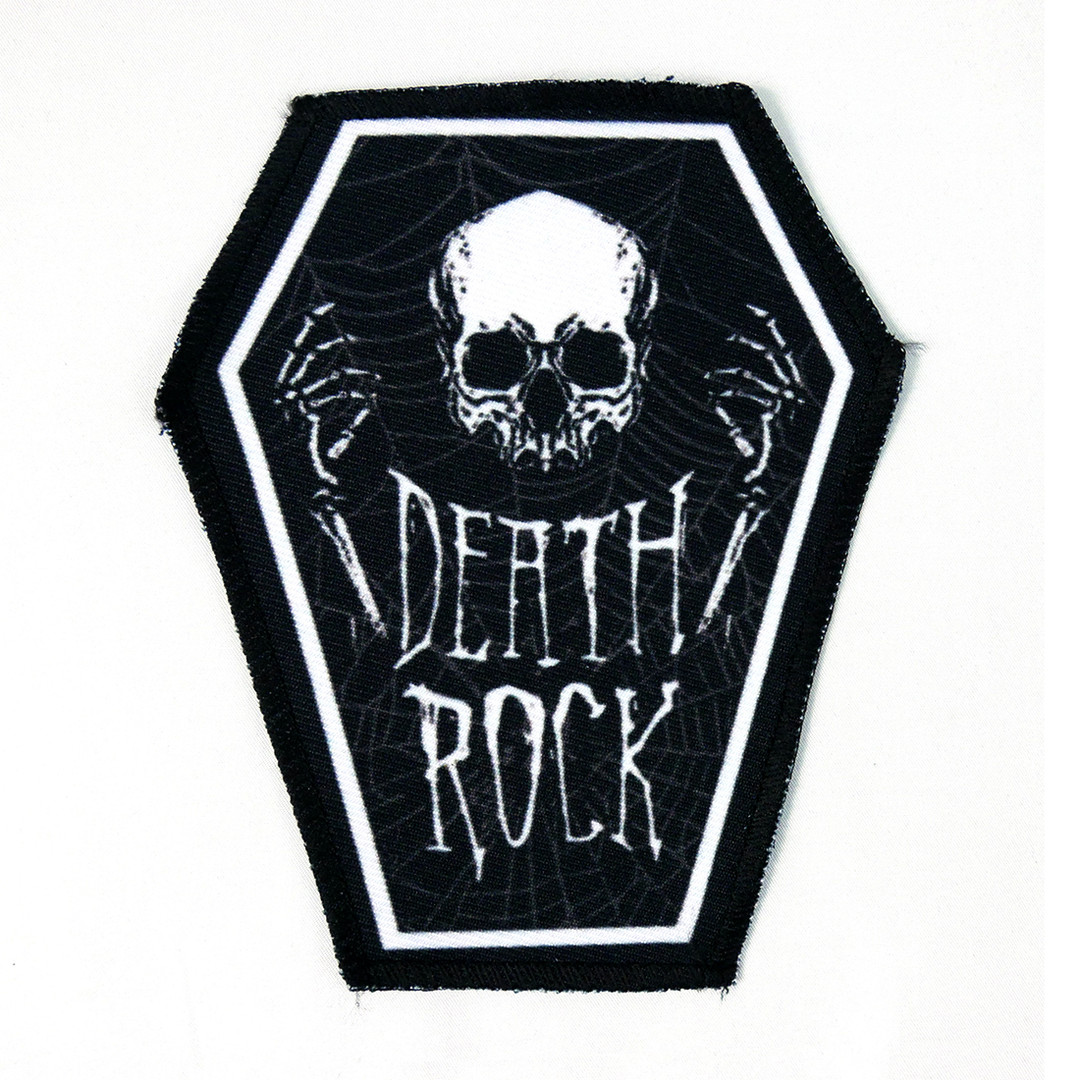 Death Rock Skull 6.75x3.5 Coffin Patch - Nuclear Waste