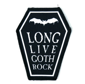 "Long Live Goth Rock 6.75x3.5"" Coffin Patch"