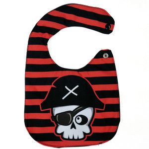 Skull Pirate Baby Bib