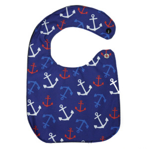 Anchor Pattern Baby Bib