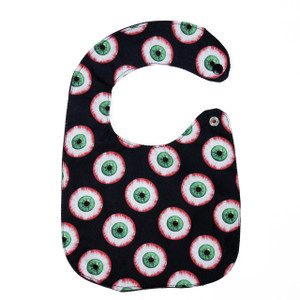 Go Rocker - Eyeball Pattern Baby Bib