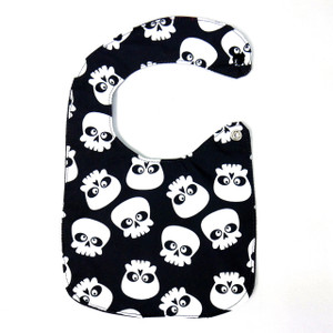 Silly Skull Pattern Baby Bib