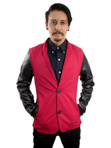 Fango Clothing - Blazer Jacker with  Vinyl Sleeves