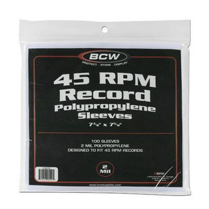 """7"""" Plastic Record Outer sleeves package of 100 pieces"""