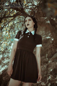 Black White Wednesday Adams' Dress