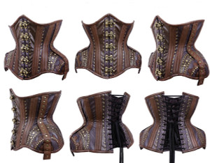 Steampunk Brown Corset WH7