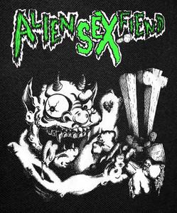 """Alien Sex Fiend Demon Backpatch 12x14"""""""