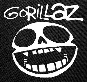 "Gorillaz Skeleton 4x4"" Printed Patch"