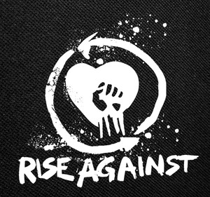 "Rise Against Fist Logo 4x4"" Printed Patch"