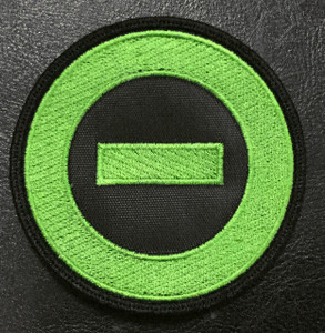"Type O Negative Green Minus Logo 3"" Embroidered Patch"