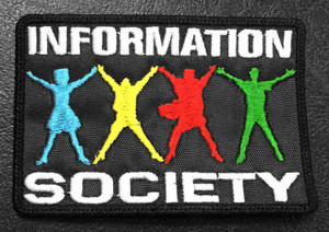 """Information Society Logo 3.5x2"""" Embroidered Patch"""