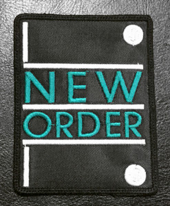 New Order Logo 3x4 Embroidered Patch