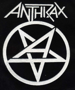 "Anthrax Pentagram 4x6"" Printed Patch"