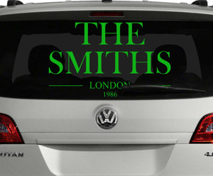 "The Smiths Logo 22x13.5"" Large Vinyl Cut Sticker"
