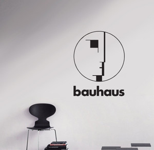 "Bauhaus - Face Logo 11x22"" Large Vinyl Cut Sticker"