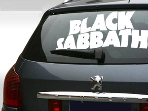 "Black Sabbath Purple Logo 22x11"" Large Vinyl Cut Sticker"