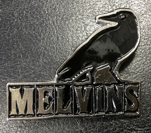"Melvins Crow Logo 3"" Metal Badge Pin"
