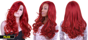 Rust Red Long Wavy Wig