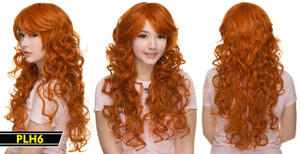 Redish Brown Long Wavy Wig