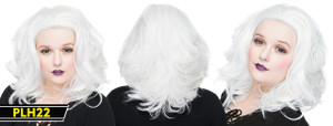 White Shoulder Long Wig