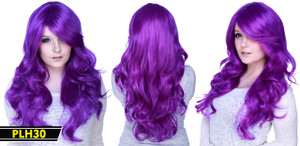 Purple Long Wavy Wig