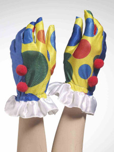 Clown Gloves with Pom Poms