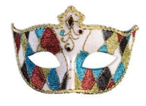 Masquerade Mask Multicolored Pattern