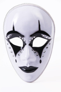 Harlequin Black and White Mask